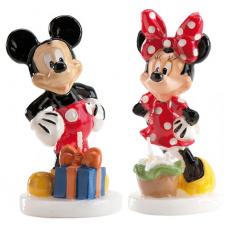 Tortová sviečka Mickey a Minnie Mouse