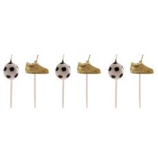 Tortové sviečky Futbal 6 ks