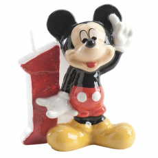 Tortová sviečka Mickey Mouse číslo 1