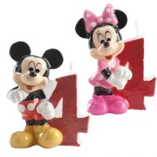 Tortová sviečka Mickey a Minnie Mouse číslo 4