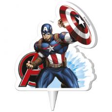 Tortová sviečka Avangers Kapitán Amerika