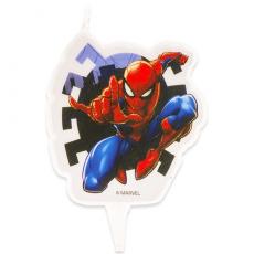 Tortová sviečka Spiderman