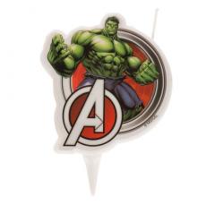 Tortová sviečka Avangers Hulk