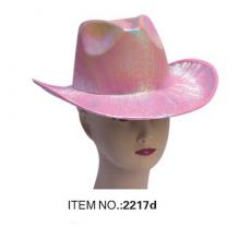 Klobúk - lesklý ružový