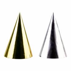 Párty klobúky Zlaté/Strieborné