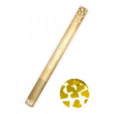 Konfety vystreľovacie srdiečka zlaté metalické 60cm