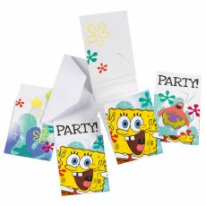 Pozvánky Sponge Bob /6ks/