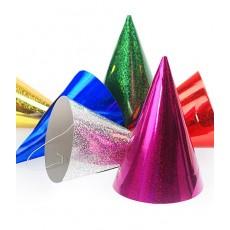 Párty klobúky mix holografické