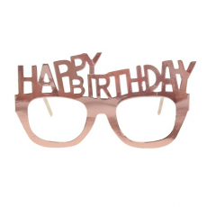 Párty okuliare Happy Birthday