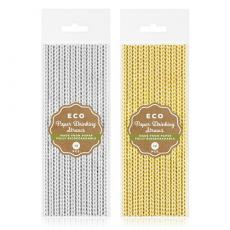 Papierové slamky prúžky ECO