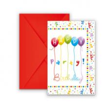 Pozvánky Happy Birthday /6ks/