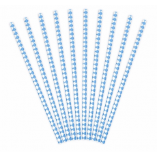 Papierové slamky modré Pika /10ks/