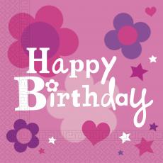 Servítky Happy Birthday dievča