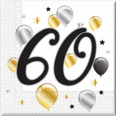 Servítky narodeniny 60
