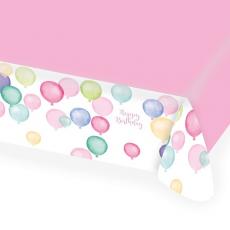 Obrus Happy Birthday pastel