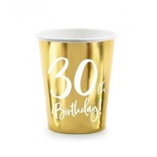 Poháre číslo 30 zlaté