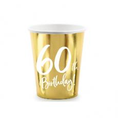 Poháre číslo 60 zlaté