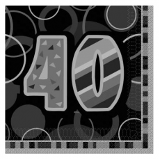 Servítky narodeniny 40