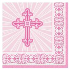 Servítky Krížik ružový