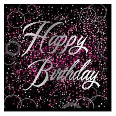 Servítky Happy Birthday ružové