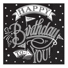 Servítky Happy Birthday to you