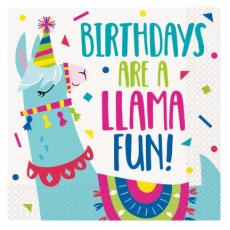 Servítky Lama BDay párty