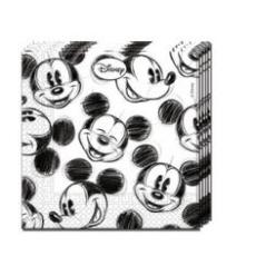 Servítky Mickey bielo čierne