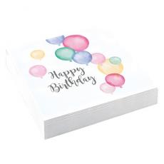 Servítky Happy Birthday pastel
