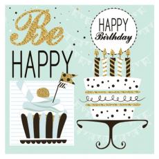 Servítky Happy Birthday Be Happy