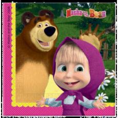 Servítky Máša a Medveď