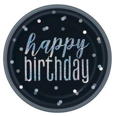 Taniere čierne Happy Birthday trblietavé