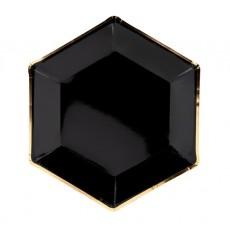 Taniere čierne so zlatým okrajom 23 cm