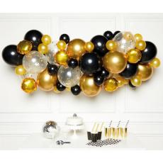 Balónová girlanda Zlato - čierna