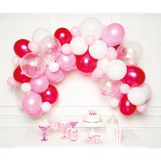 Balónová girlanda Ružová
