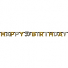 Banner Happy Birthday číslo 50