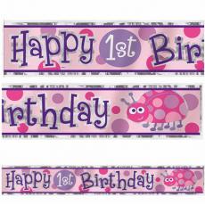 Banner 1. narodeniny dievča