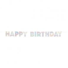 Banner Happy birthday dúhový