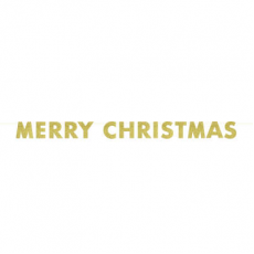 Banner Merry Christmas zlatý