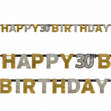 Banner Happy Birthday číslo 30