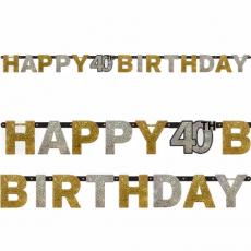 Banner Happy Birthday číslo 40