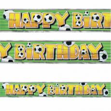 Banner Happy Birthday Futbal