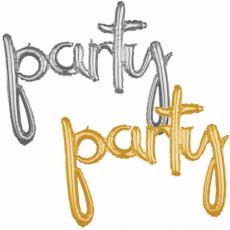 Balónový banner PARTY script