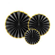 Rozetky čierne so zlatým okrajom
