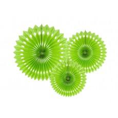 Rozetky zelené limetka /3ks/