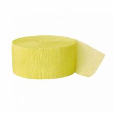 Krepová stuha žltá