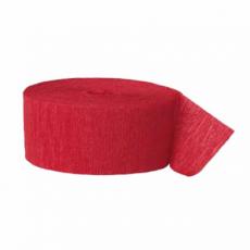 Krepová stuha červená