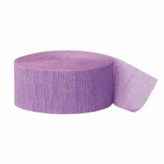 Krepová stuha bledo fialová