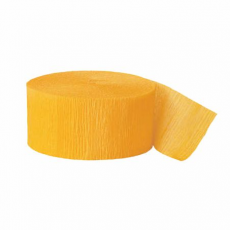 Krepová stuha tmavo žltá