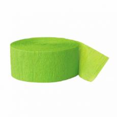 Krepová stuha zelená limetka