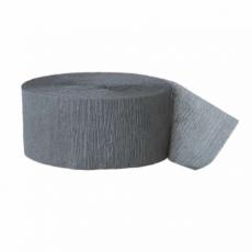 Krepová stuha sivá